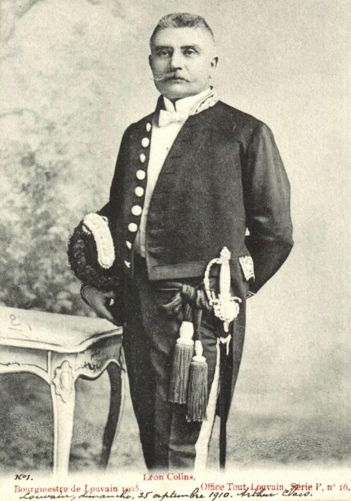 Burgemeester Leo Colins (Stadsarchief Leuven)