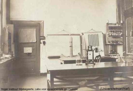 Labo voor experimentele psychologie (Universiteitsarchief)