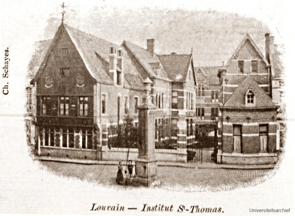 St-Thomashospitaal in Hoger Instituut voor de Wijsbegeerte (Universiteitsarchief KU Leuven)