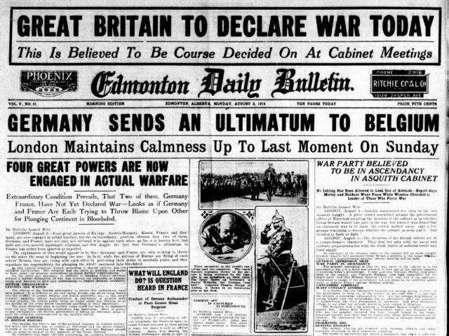 Duits ultimatum aan België
