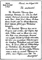 Duits ultimatum aan Belgische regering