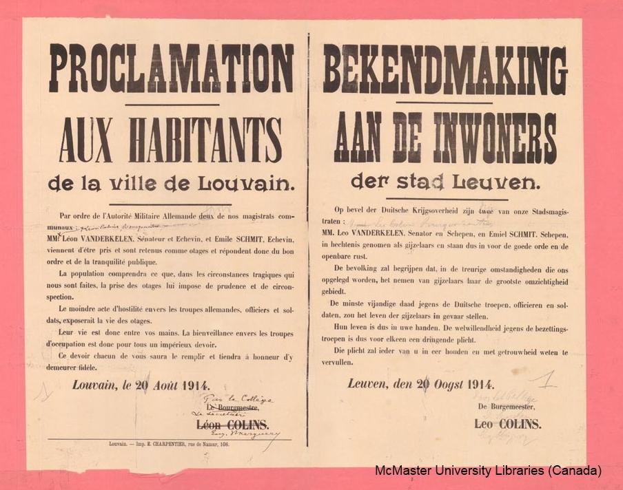 Gijzelneming van burgemeester en twee  schepenen van Leuven (McMaster University Libraries)