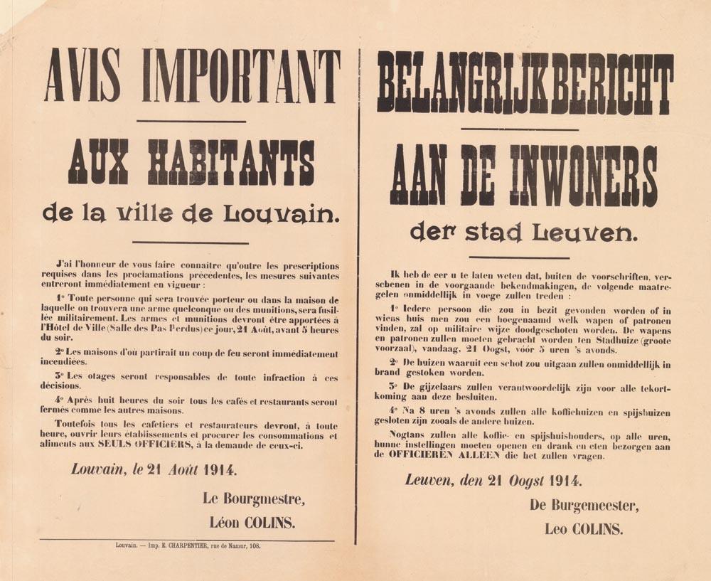 Avondklok en nog meer strenge maatregelen in Leuven (McMasters University Libraries Canada)