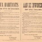 De burgerwacht moest zich op 26 augustus 1914 om 14u in de St-Maartenskazerne aanbieden. Van daaruit werd de Leuvense burgerwacht weggeleid en later als levend schild voor de Duitse troepen uitgedreven.