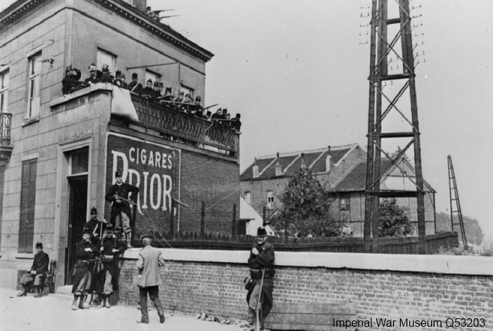 Achterhoede van het Belgische leger bij Leuven, 19 augustus 1914 (Imperial War Museum, Q53203)