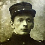Leuvense burgerwachter Alphonse Dewever (foto Piet Dewever)