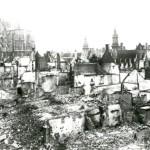 Schade tussen de Diestsestraat en de Rijschoolstraat (foto archief Onroerend Erfgoed)