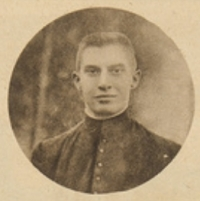 Executie van pater jezuïet Dupierreux in Tervuren (foto Universiteitsarchief KU Leuven)  Eugène Dupierreux , geëxecuteerd in Tervuren tijdens zijn vlucht uit Leuven