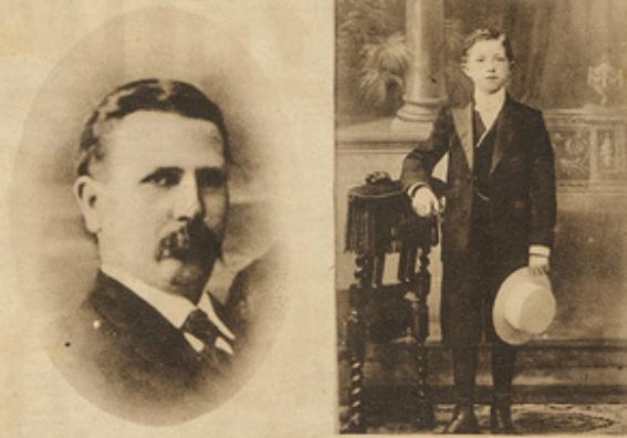 Jean Mahy en zijn 15-jarige zoon Désiré (foto Europeana databank)