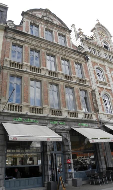 Hotel Milles Colonnes waar de Amerikaanse journalisten verbleven in augustus 1914 (foto Hilde Verboven)