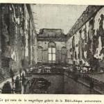 Uitgebrande universiteitsbib (foto Fuglister)