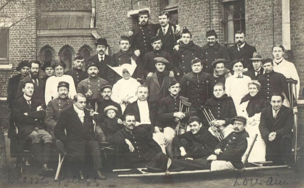 Gewonden van het St-Thomashospitaal (Stadsarchief Leuven, Collectie Sprengers, map 49)