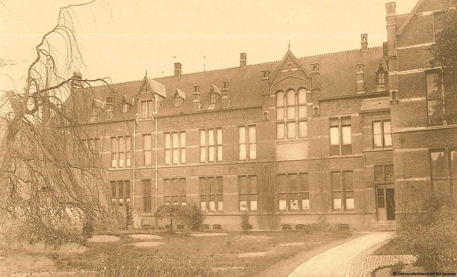 St-Thomashospitaal gevestigd in het Hoger Instituut voor de Wijsbegeerte (foto Universiteitsarchief KU Leuven)