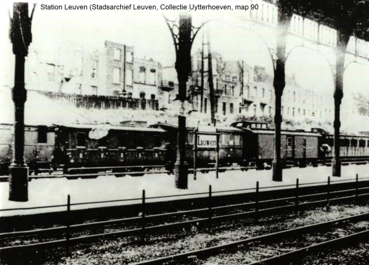 Station in Leuven onder Duitse bezetting (foto Stadsarchief Leuven)