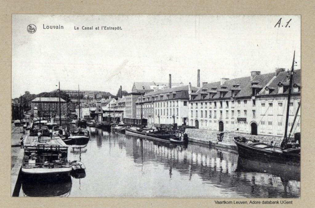 Vaartkom Leuven met zicht op het Entrepot gebouw (Adore databank UGent)