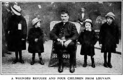 Leuvense familie leeft als vluchtelingen in Groot-Brittannië (foto Times History 1915)