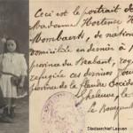 Deze familie uit Kessel-Lo komt op 10 september 1914 als vluchtelingen terecht in Geluwe in de Westhoek, waar het oorlogsgeweld hen korte tijd later zou inhalen (foto Stadsarchief Leuven)