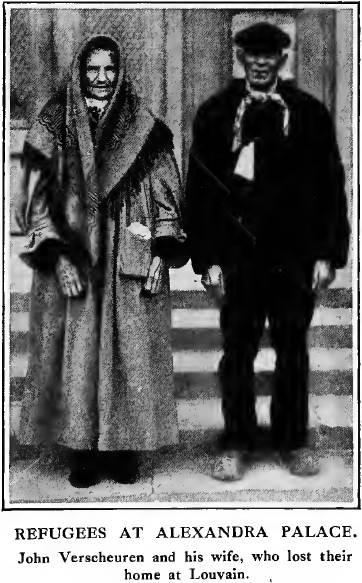Jan Verscheuren en zijn vrouw ontsnapt naar Groot-Brittannië  (foto Times History 1915)