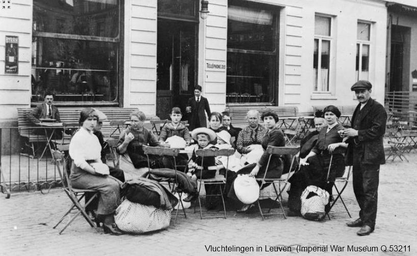 Vluchtelingen in Leuven, 19 augustus 1914 (Imperial War Museum, Q53211)