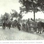 Belgische vluchtelingen onderweg (foto de Gerlache 1917)