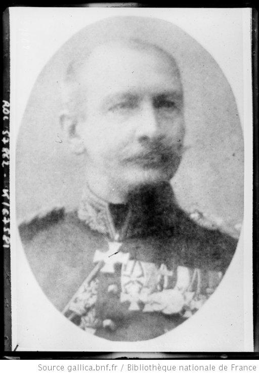 Etappen-Kommandant majoor von Manteuffel, bevelhebber over de Kommandantur Leuven-Tienen-Tervuren (foto Bibliothèque nationale de France)