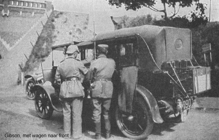 Gibsons wagen bij een controlepost (Gibson, Journal of our Legation, 1917)