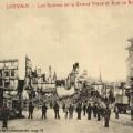 Duitse troepen voor het stadhuis van Leuven op de Grote Markt (foto Stadsarchief Leuven, collectie Uytterhoeven,   map 90)