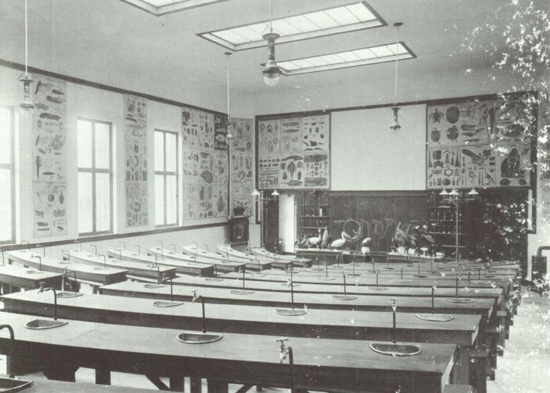 Koningscollege, auditorium Dierkunde (foto Morren, universiteitsarchief KU Leuven, Album van een wetenschappelijke wereld)
