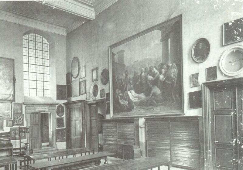 Universiteitsbib; leeszaal (foto Morren, universiteitsarchief KULeuven, Album van een wetenschappelijke wereld)