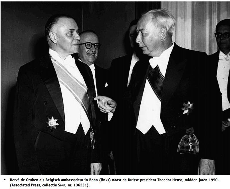 De Gruben als ambassadeur in Duitsland (foto Cegesoma)