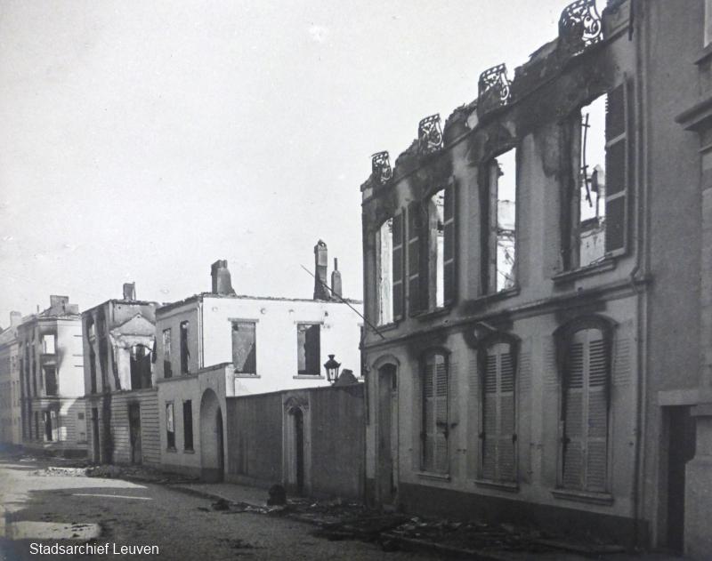 Vital Decosterstraat, huis Peemans-Van Tilt (foto Stadsarchief Leuven, fototheek)