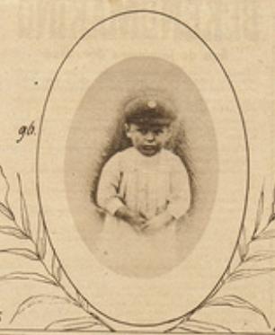 De vierjarige Jules Meeus, doodgeschoten in Kessel-Lo toen hij samen met zijn moeder en vader op 26 augustus 1914 op de vlucht was geslagen (foto weekblad Ons Land, 1919)