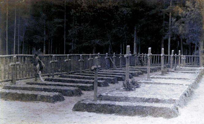 Begraafplaats van het gevangenekamp Munster. Hier lag Felix Soetewey begraven (foto www.munsterlager.com)